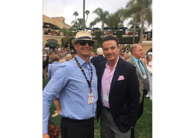 12. Rick Pitino is not only a great basketball coach but also a player in the Thoroughbred game. Got to exchange pleasantries with him in the Del Mar paddock before the 2016 Pacific Classic.