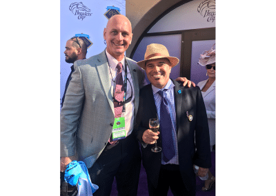 3. California based trainer Peter Miller got his first two Breeders' Cup wins in the same day at Del Mar in 2017. Big day for him and glad I got to hang with him to toast his success!