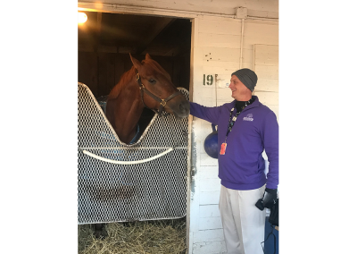 1. Hanging with top Thoroughbreds like The Player, a Buff Bradley trained Kentucky bred always makes me feel like a winner!