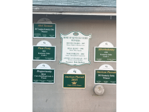 2. The Bob Baffert barn at Churchill Downs just exudes success. You can see from the signs why he is one of the most successful trainers in the game.