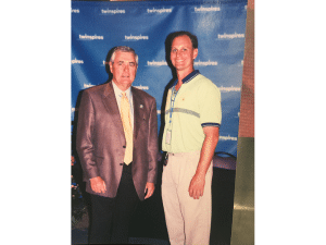 18. Carl Nafzger won the Kentucky Derby twice (1990, 2007) and more importantly…he knew me when I had hair!!!