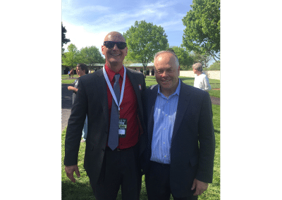 19. Australian born Ian Wilkes is a fantastic horse trainer and great guy too. This one of me and my mate was taken at Keeneland in the paddock.