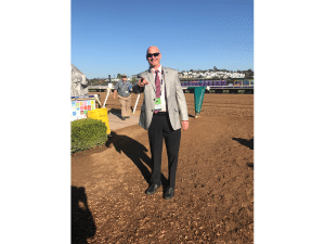 5. I am standing at the entrance to the track at Del Mar on the morning of the Breeders Cup day 2. Huge day of racing that was!