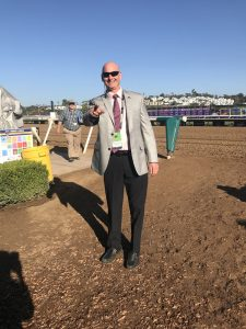 5 I am standing at the entrance to the track at Del Mar on the morning of the Breeders Cup day 2. Huge day of racing that was!