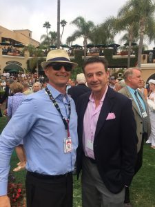 12 Rick Pitino is not only a great basketball coach but also a player in the Thoroughbred game. Got to exchange pleasantries with him in the Del Mar paddock before the 2016 Pacific Classic.