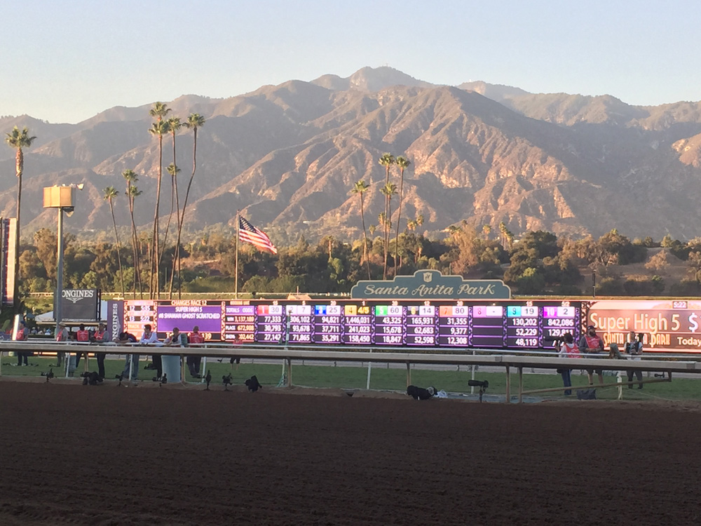 10- The beauty of Santa Anita Park is simply breathtaking. As the sun comes up over the San Gabriel Mountains we know a new day is dawning at the great race place.