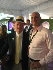 9 Standing with trainer Richard Mandella after his prized mare Beholder won the 2016 Breeders Cup Distaff. She nosed out Songbird at Santa Anita in one of the greatest races ever.