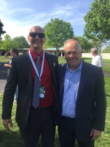 19 Australian born Ian Wilkes is a fantastic horse trainer and great guy too. This one of me and my mate was taken at Keeneland in the paddock.